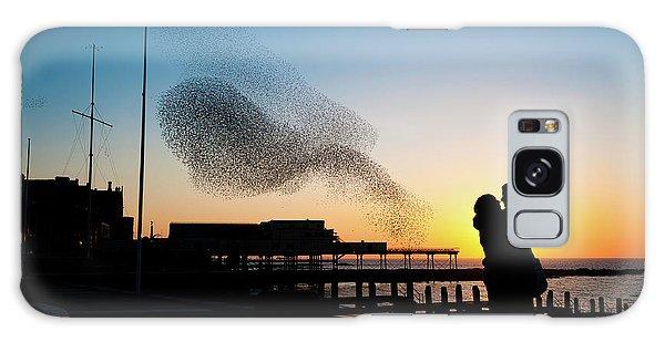 Love Birds At Sunset Galaxy Case