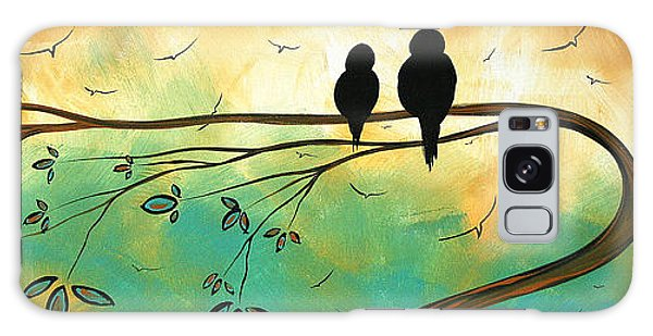Love Birds By Madart Galaxy Case
