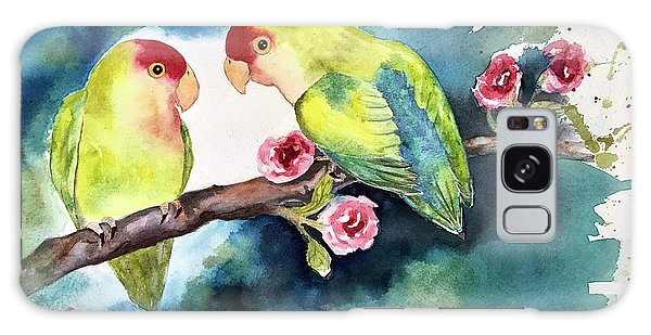 Love Birds On Branch Galaxy Case