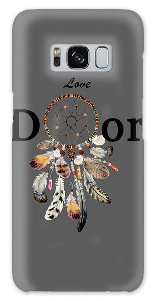 Galaxy Case featuring the painting Love Dior Watercolour Dreamcatcher by Georgeta Blanaru