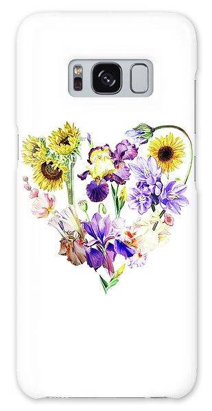 Galaxy Case featuring the painting Love Flowers by Irina Sztukowski