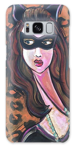 Galaxy Case featuring the painting Love For Cat Woman  by Laurie Maves ART