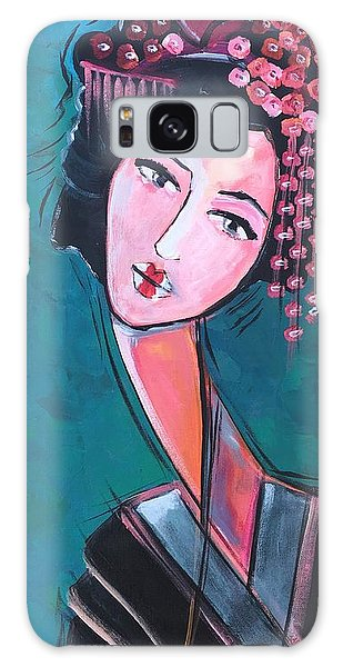 Galaxy Case featuring the painting Love For Geisha Girl by Laurie Maves ART