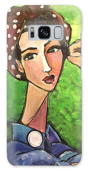 Galaxy Case featuring the painting Love For Riveters by Laurie Maves ART