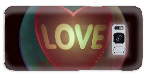 Love Heart Inside A Bakelite Round Package Galaxy Case