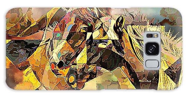 Love Horses Galaxy Case