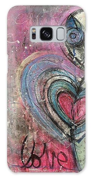 Galaxy Case featuring the painting Love In All Things by Laurie Maves ART