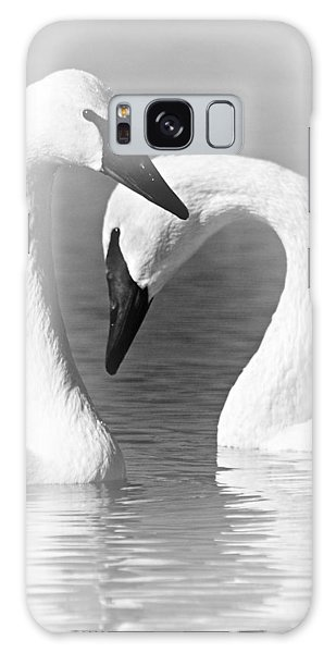 Love In Black And White Galaxy Case by Larry Ricker