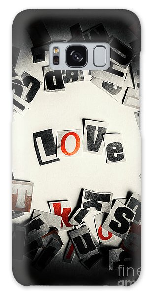 Style Galaxy Case - Love In Letters by Jorgo Photography - Wall Art Gallery