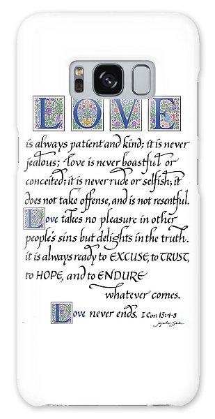 Love Is Always Patient Galaxy Case