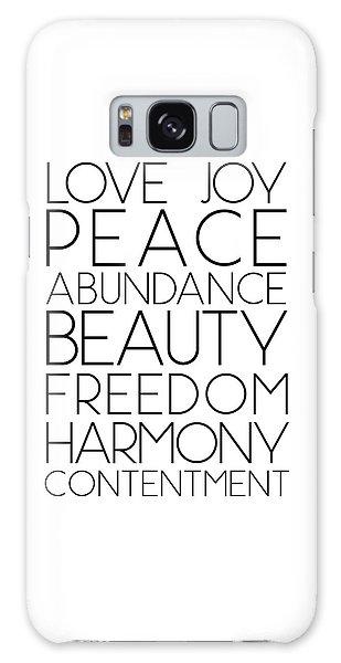 Love Joy Peace Beauty Virtues Galaxy Case