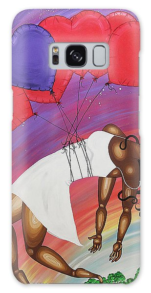 Galaxy Case featuring the painting Love Lifts Us Up by Aliya Michelle