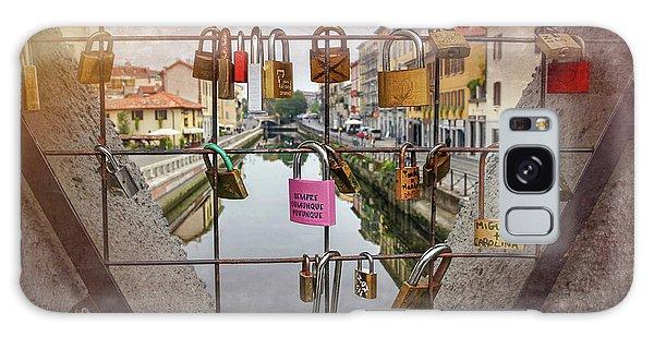 Love Lock Triangle At Naviglo Grande Milan Italy  Galaxy Case