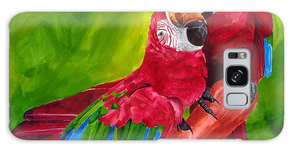 Love Macaws Galaxy Case by Dawnstarstudios