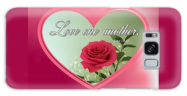 Galaxy Case featuring the digital art Love One Another Card by Sonya Nancy Capling-Bacle