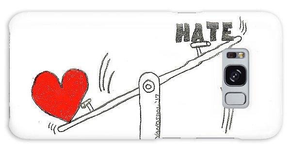 Malcom X Galaxy Case - Love Outweighs Hate by Scott D Van Osdol
