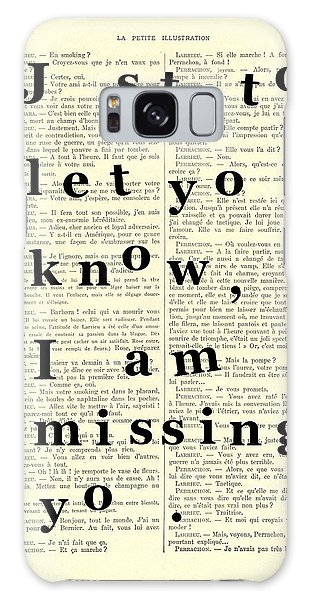 Missing Galaxy Case - Love Poem, Valentine Gift  by Madame Memento