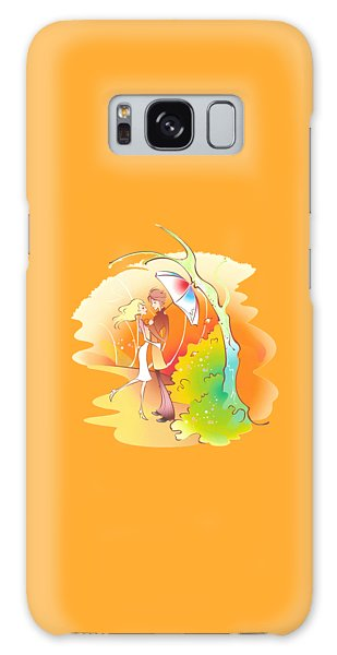 Love Shower T-shirt Galaxy Case by Herb Strobino