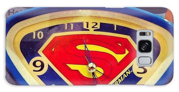 Superhero Galaxy Case - Superman Clock by Joan McCool