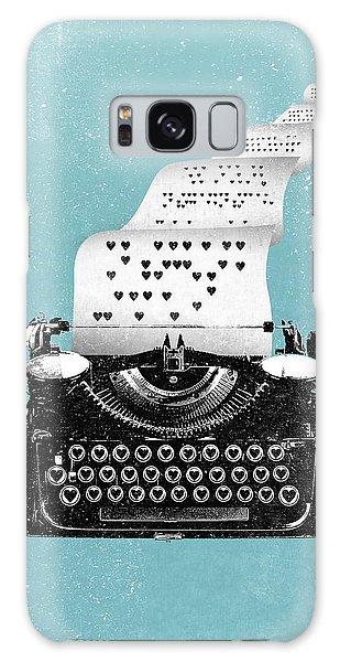 Love Typewriter Poster Galaxy Case