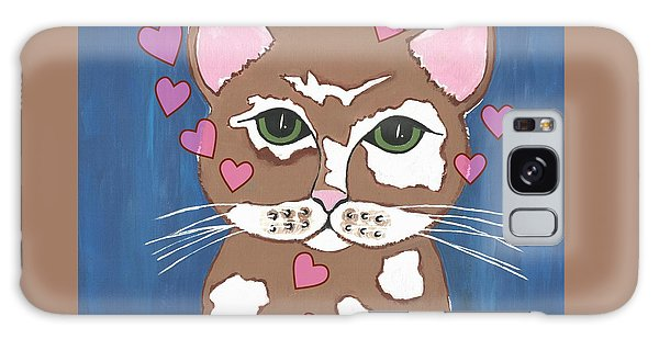 Loveable Cat Galaxy Case by Kathleen Sartoris