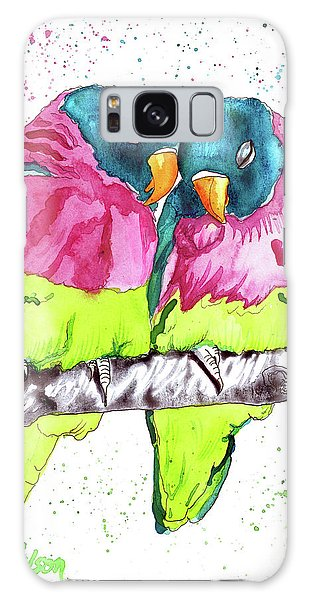 Lovebirds Galaxy Case