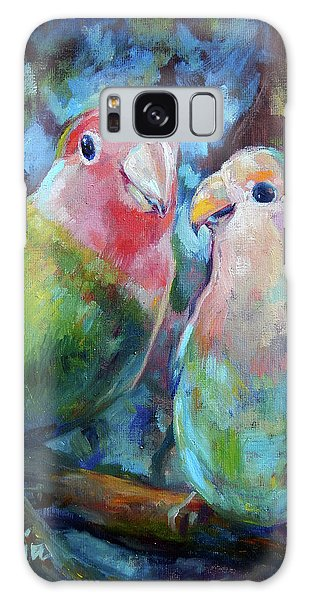 Parakeet Galaxy Case - Lovebirds by Tom Dauria