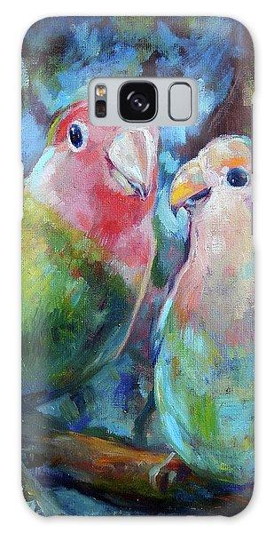 Song Bird Galaxy Case - Lovebirds by Tom Dauria