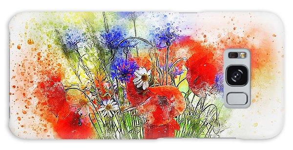Watercolour Bouquet Galaxy Case
