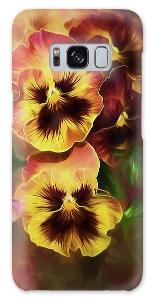 Lovely Spring Pansies Galaxy Case