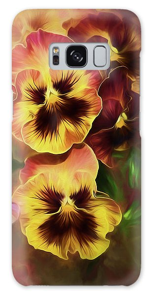 Lovely Spring Pansies Galaxy Case by Diane Schuster