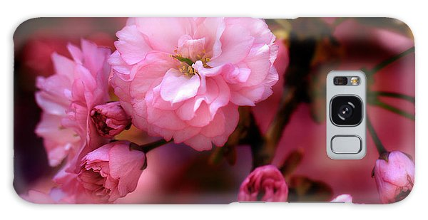 Lovely Spring Pink Cherry Blossoms Galaxy Case