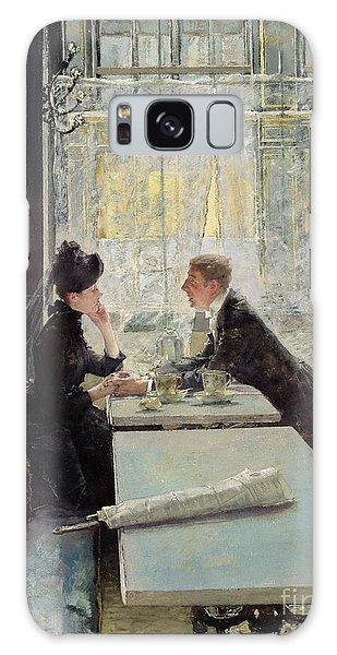 Restaurants Galaxy Case - Lovers In A Cafe by Gotthardt Johann Kuehl