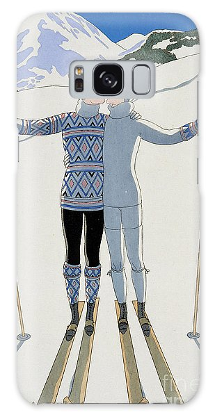 Lovers In The Snow Galaxy Case by Georges Barbier