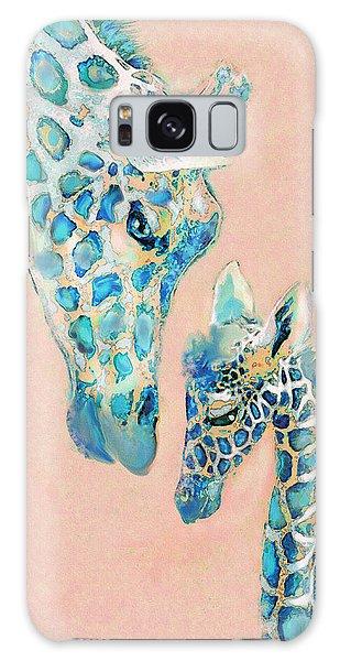 Loving Giraffes Family- Coral Galaxy Case by Jane Schnetlage