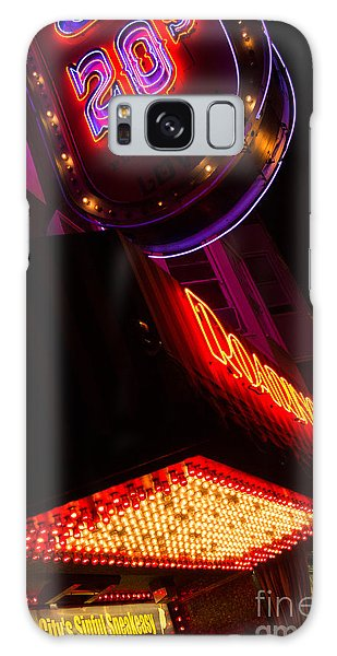 Low Angle Neon Signs At Night In North Beach San Francisco Galaxy Case by Jason Rosette
