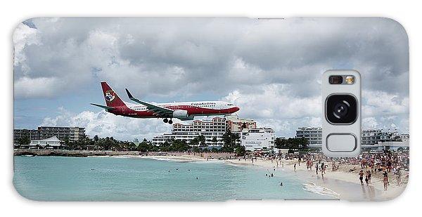 Low Landing At Sonesta Maho Beach Galaxy Case