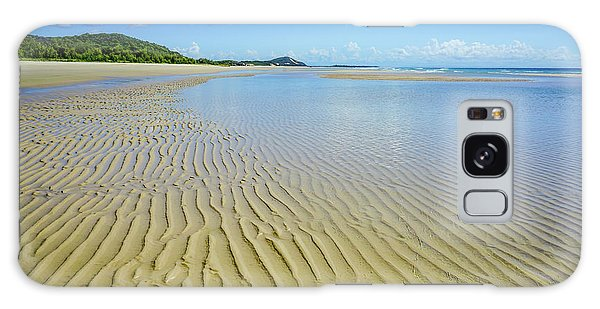 Low Tide Beach Ripples Galaxy Case