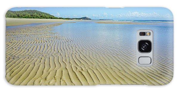 Low Tide Beach Ripples Galaxy Case