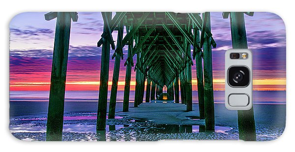 Low Tide Pier Galaxy Case