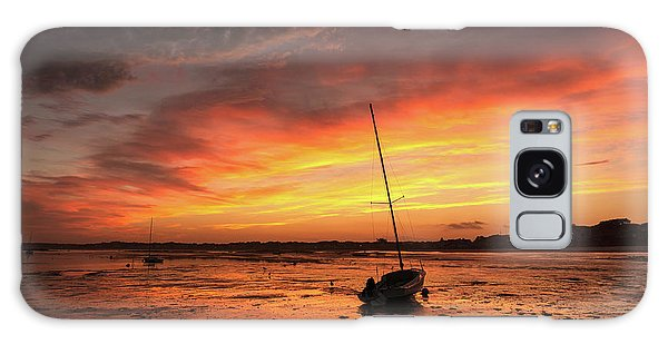 Low Tide Sunset Sailboats Galaxy Case