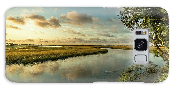 Pitt Street Bridge Creek Sunrise Galaxy Case