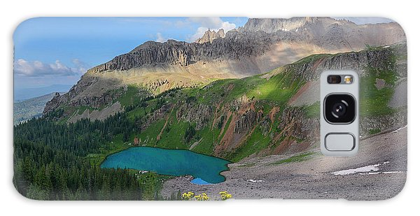 Galaxy Case featuring the photograph Lower Blue Lake And Mt. Sneffels by Aaron Spong