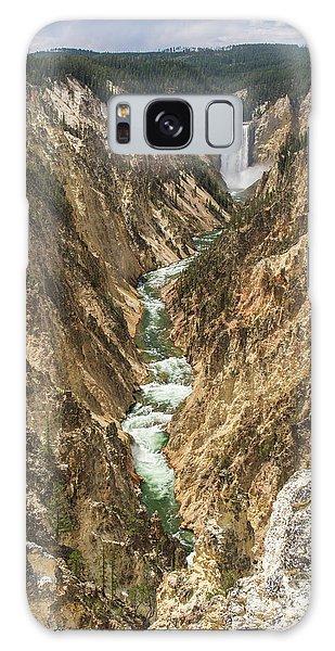 Lower Falls Of The Yellowstone - Portrait Galaxy Case