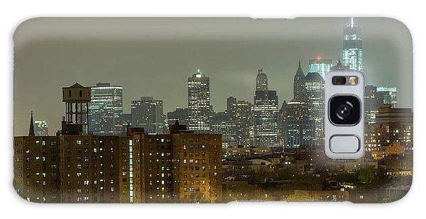 Lower Manhattan Cityscape Seen From Brooklyn Galaxy Case