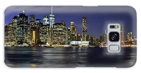 Lower Manhattan From Brooklyn Heights At Dusk - New York City Galaxy Case
