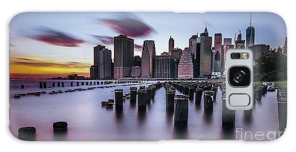 Lower Manhattan Purple Sunset Galaxy Case