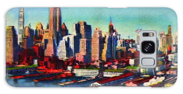 Lower Manhattan Skyline New York City Galaxy Case