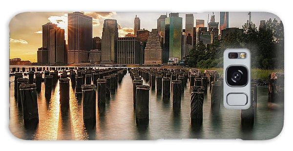 Lower Manhattan Sunset Twinkle Galaxy Case