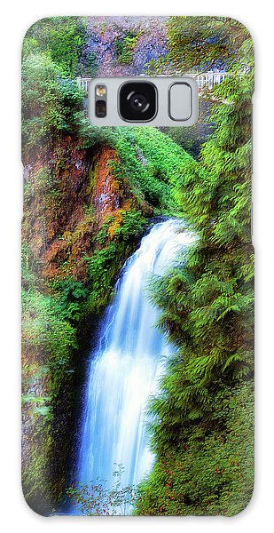 Lower Multnomah Waterfall In The Columbia River Gorge Galaxy Case